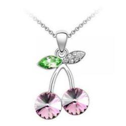 Austrian Crystal with Swarovski Elements - Cherries-Pink