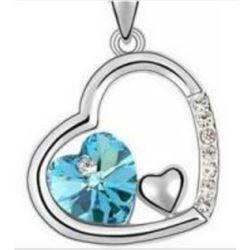 Austrian Crystal with Swarovski Elements - Cradle of hearts-Blue