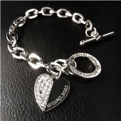 New Elegant Ladies Silver Tone Rhinestone Michael Kors Bracelet