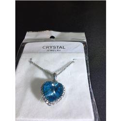 Austrian Crystal with Swarovski Elements - Sapphire heart necklace