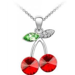 Austrian Crystal with Swarovski Elements - Cherries-Red