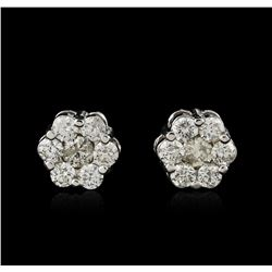 14KT White Gold 1.20 ctw Diamond Earrings