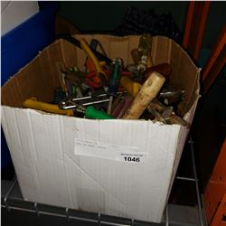 BOX OF HAND TOOLS