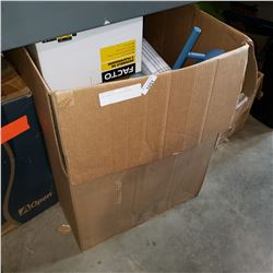 LARGE BOX OF LIGHT FIXTURES