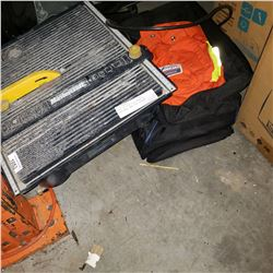 TILE SAW, BOWLING BALL, DVD CASES