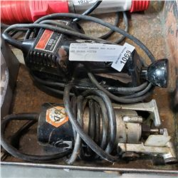 """SKIL 2-1/2"""" SANDER AND BLACK AND DECKER ROUTER"""
