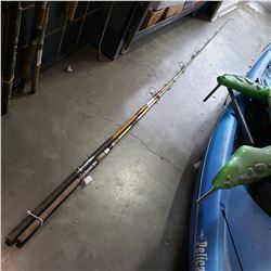 2 STURGEON/HALIBUT RODS AND RIVER ROD