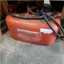 BOAT GAS TANK AND GAS LINE