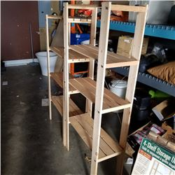 2 PINE OF SHELF STORAGE UNITS