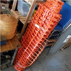 ROLL OF ORANGE MESH FENCE