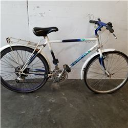 WHITE AND BLUE NORCO BIKE
