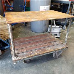 ROLLING STEEL TABLE CART