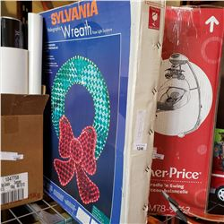 SYLVANIA HOLOGRAPHIC WREATH ROPE LIGHT SCULPTURE NEW IN BOX