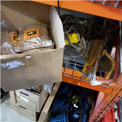 LOT OF HAND SAWS, ROPE AND ORCHID POTTING MEDIUM
