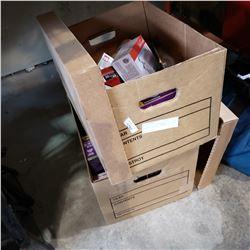 2 BOXES OF LIGHTBULBS, COLORED, PURPLE, ORANGE