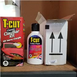 BOX OF TCUT COLOR FAST AND TCUT CLAY BAR KIT