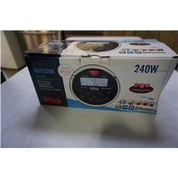 BOXX MGR350B BLUETOOTH MARINE GAUGE DIGITAL MEDIA AUDIO AM/FM RECEIVER