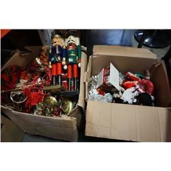 3 BOXES OF CHRISTMAS DECORATIONS