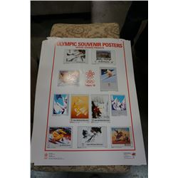 LOT OF OLYMPIC POSTERS CALGARY 1988