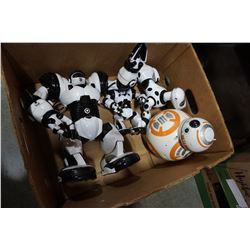 BOX OF 4 RC ROBOTS INCLUDING BB8