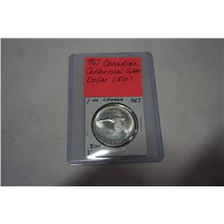 1967 CANADIAN CENTENNIAL SILVER DOLLAR .800
