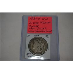 1881 O USA SILVER MORGAN DOLLAR .900 SILVER NEW ORLEANS MINT