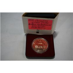 1979 CANADIAN SILVER DOLLAR GRIFFEN TRI CENTENNIAL .500 SILVER WITH GOLD TINT, TONING