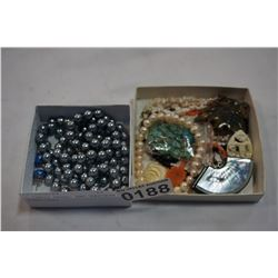 2 TRAYS PEARL AND EASTERN JEWELLERY