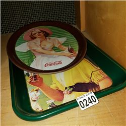 2 COCA COLA TRAYS