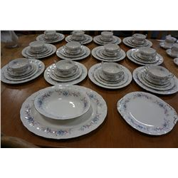 12 PLACE SETTING PARAGON CHINA ROMANCE DINNER SET AND 3 PLATTERS, 62 PIECE MADE IN ENGLAND