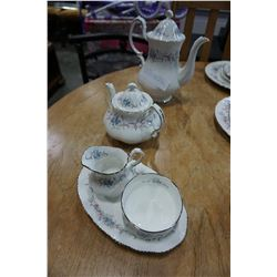 PARAGON CHINA ROMANCE TEAPOT, COFFEE POT AND CREAM AND SUGAR, MADE IN ENGLAND