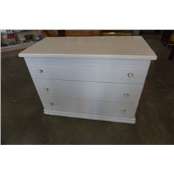 WHITE 3 DRAWER DRESSER