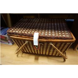 AS NEW WICKER PICNIC BASKET