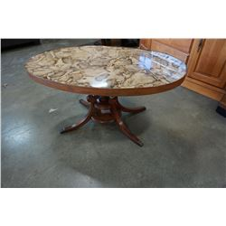 DUNCAN PHYFFE BASE OVAL COFFEE TABLE