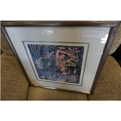 LEP ENCHANTED GARDEN SIGNED #176/350 IN SILVER FRAME