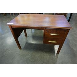 OAK 2 DRAWER DESK