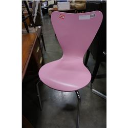 PINK AND CHROME CHAIR