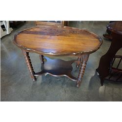 ANTIQUE STERLINGS END TABLE