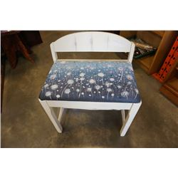 PAINTED DECORATIVE BENCH STOOL