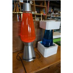 3FT TALL LAVA LAMP W/ INTERCHANGEABLE BLUE GLASS