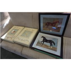 2 ART IN MOTION ARNIE FISK PRINTS AND 2 HORSE PRINTS