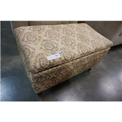 VINTAGE FABRIC STORAGE BENCH