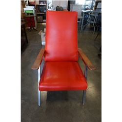 VINTAGE RED ARM CHAIR