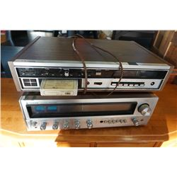 DETSON 8 TRACK PLAYER, RADIO, AND SANYO STEREO RECEIVER DCX 6000K
