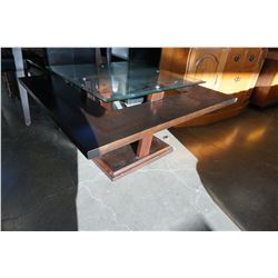 MODERN SQUARE GLASSTOP COFFEE TABLE