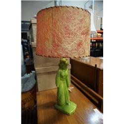 ANTIQUE CERAMIC CHINESE FIGURE LAMP