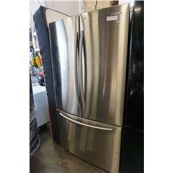 SAMSUNG STAINLESS STEEL FRENCH DOOR FRIDGE, WITH WATER INSIDE, TESTED AND WORKING GUARANTEED