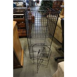 METAL WIRE BASKET SHELF AND WIRE RACK