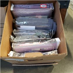 BOX OF 6 NEW ASSORTED CURTAIN PANELS, RING TYPE