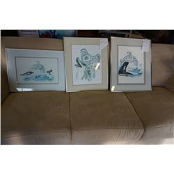 LOT OF 3 NATIVE SUE COLEMAN SIGNED PRINTS